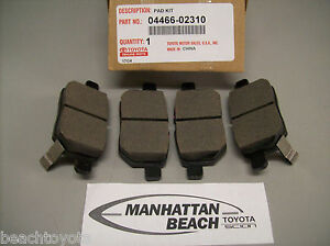 2009 2019 Corolla Rear Brake Pads New Genuine Toyota Oem 04466 02310