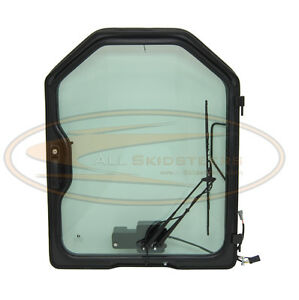 For Bobcat Skid Steer Door W Wiper Glass S220 S250 S300 Front Enclosure Loader