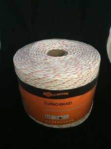 Gallagher G62176 Electric Turbo Equibraid Rope 1312 feet White