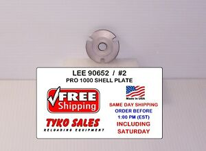 LEE 90652 * LEE PRO 1000 SHELL PLATE #2 * 45 ACP AND SIMILAR CASES * 90652