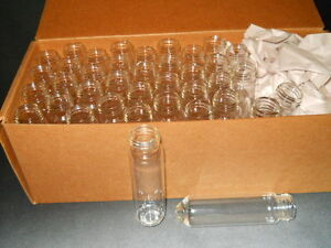 38 Chemglass 40ml High Recovery Conical Interior Glass Vials No Screw Caps