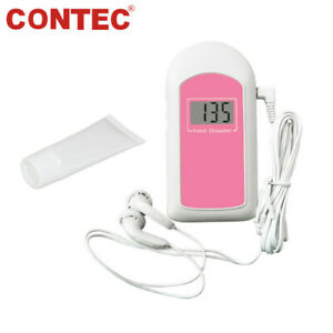 Us Seller Prenatal Fetal Doppler 3mhz Probe baby Heart Monitor backlight Lcd gel