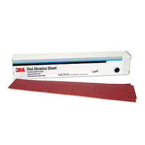 3m 01182 Hookit Red 25 Sheets Long Board Sand Paper 40 Grit 2 3 4 X 16 1 2
