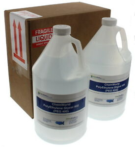 Chemworld Polyethylene Glycol peg 400 2x1 Gallon