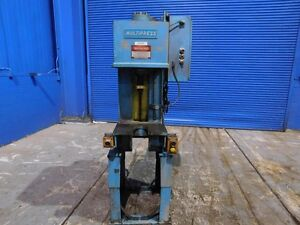 6 Ton Denison Hydraulic C Frame Press Straightening 18 X 11 Bed 12 Stroke