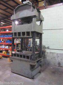 50 Ton Dake 4 Post Hydraulic Press Metal Forming And Pressing 58 X 38 Bed
