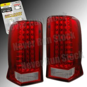 Cadillac Escalade Oe Clear Red Led Tail Lights White Led License Plate Bulbs