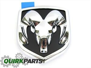 2006 2009 Dodge Ram 1500 2500 Hood Emblem For Grille Chrome Black Oem Mopar New