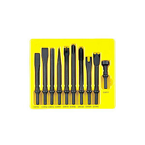 Grey Pneumatic Cs110 10 Pc Air Chisel Set With 401 Shanks
