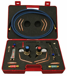 Welding And Cutting Oxygen Acetylene Complete Set Regulator Flashback Set