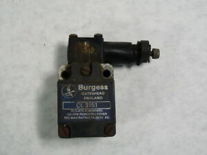 Burgess Cl3151 Snap Action Limit Switch 7a 250vac Used