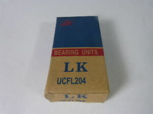 Lk Ucfl204 Flange Bearing Cast Housing New