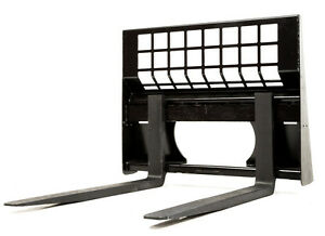Eterra Skid Steer Pallet Forks 5500 Lb Fits Bobcat Caterpillar
