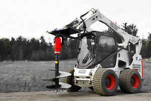 Skid Steer Auger Package Choose 1 Auger Drive Choose 2 Auger Bits Eterra