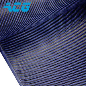 Blue Carbon Fiber kevlar Hybrid Cloth Twill 200g 1mx1m For Diyauto Parts
