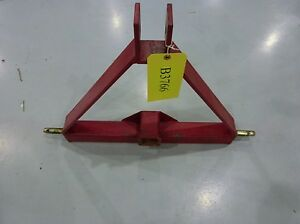Red 3 Point Hitch Class 1 Tractor Hitch receiver Only