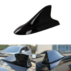 Black Car Shark Fin Roof Top Mount Decorative Antenna Aerial Universal Fit