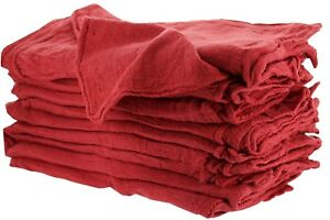 1000 Industrial Shop Rags Cleaning Towels Red