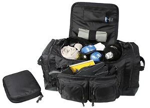 Deluxe Police Law Enforcement Gear Bag Black Security Equipment Pack Bags