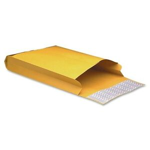 10 X 13 X 2 40 Kraft Peel Seal Open End Expansion Envelope Mailers 100 Pack