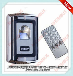 Biometric Fingerprint Door Access Control Controller Metal Case 1000 User f007