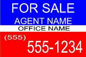 50 Pack 18 x24 Full Color Double Sided plastic Real Estate Yard Signs