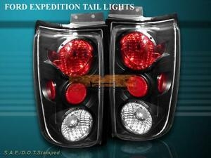 1997 2002 Ford Expedition Altezza Tail Lights Black 1998 1999 2000 2001
