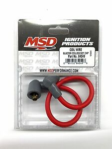 Msd 84049 Blaster Ignition Coil Wire Socket Style 8 5mm 90 Boots Red