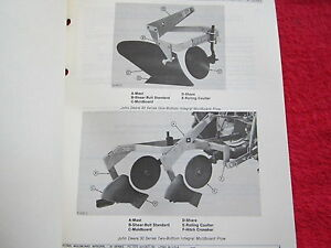 1978 Jd John Deere 30 Series 1 2 Bottom Moldboard Plow Parts Catalog Manual