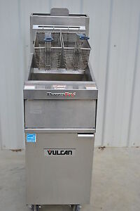 2014 Vulcan 1tr45a Solid State Natural Gas Fryer 70 000btu