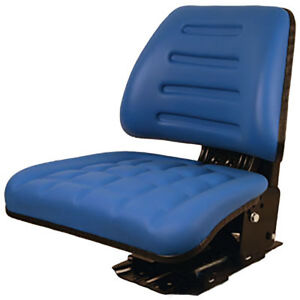 86605775 Blue Seat With Trapezoid Back For Ford New Holland Tractor 3430 4630