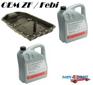 New Oem Zf Automatic Transmission Filter Kit Oil Pan With10 liters Trani Fluid