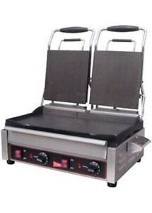 Grindmaster Cecilware Sg2lf Sandwich Panini Grill Doubled Flat Surface new