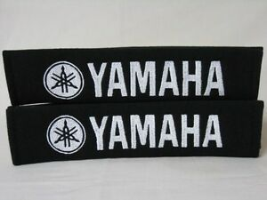New Yamaha Embroidery Car Seat Belt Shoulder Pads Pair