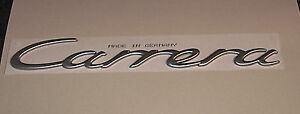 Porsche 996 Carrera 4 Silver Badge Emblem Genuine New 2001