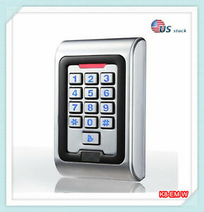 Metal Case Standalone Access Controll Waterproof Ip68 Rfid Em Reader Keypad