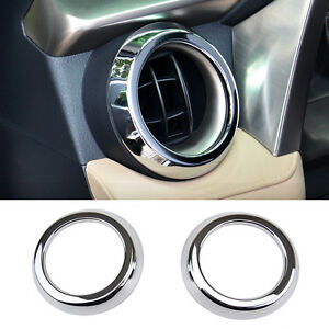 For Toyota Rav4 2013 2018 Chrome Front Dashboard Side Air Vent Outlet Cover Trim
