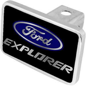 New Ford Explorer Blue Logo Word Tow Hitch Cover Plug