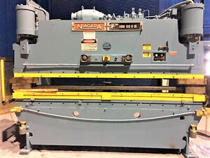 100 Ton X 10 Niagara Cnc 2 Axis Hydraulic Press Brake Metal Forming Bending