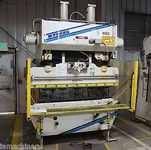 60 Ton X 6 Wysong Hydraulic Power Press Brake Sheet Metal Bender Former