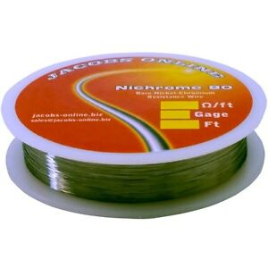 Nichrome 80 Resistance Wire nichrome V Chromel A 30 Gauge 1000 Feet