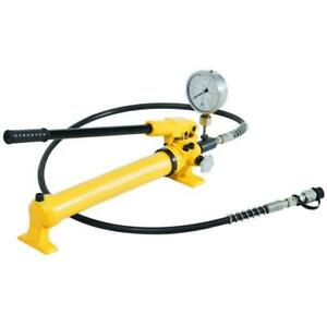 Hydraulic Hand Pump Two Speed With Pressure Gauge 10000 Psi 43 In3 B 700b