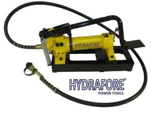 Hydraulic Foot Pump 2 Speed Power Pack Hose Coupler 10000 Psi 21 In3 B 800b