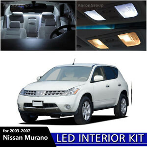 15pcs White Led Light Interior Package Kit For 2003 2007 Nissan Murano