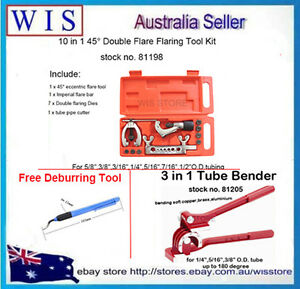 Double Flaring Tube Bender Flaring Tool Kit Brake Line Air Conditioning W Gift