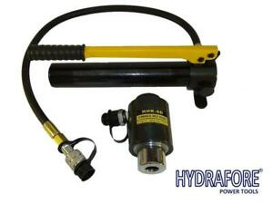 Hydraulic Hole Punch Knockout Set 6 Dies Hand Pump 7 8 2 3 8 11 Tons K 8d