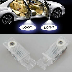2x Led Door Courtesy Projector Laser Light Car Auto Shadow Lamps Waterproof Set