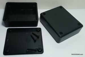 6 Pcs Usa Black Plastic Electronic Project Box Enclosure Case 3 X 2 5 X 1 In