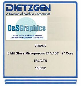1 Roll 24 X 100 8 Mil Gloss Microporous Photo Inkjet Paper Wide Format Paper