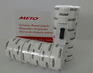 Meto Labels To Suit 20 26 2 Line Pricegun 12 Rolls White Labels Ink Roller